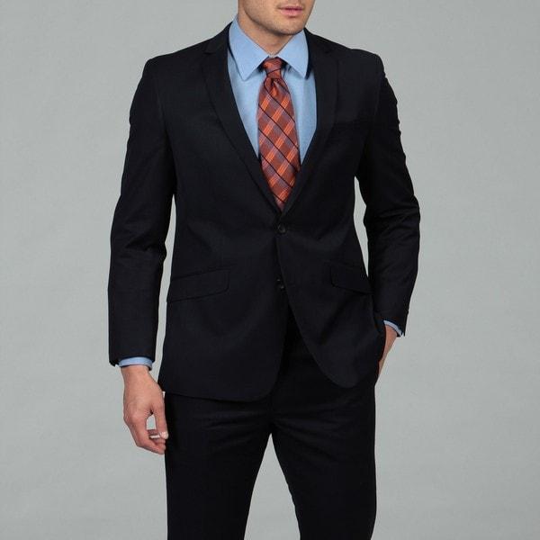 Kenneth Cole Reaction Men's Blue 2-button Slim Fit Suit