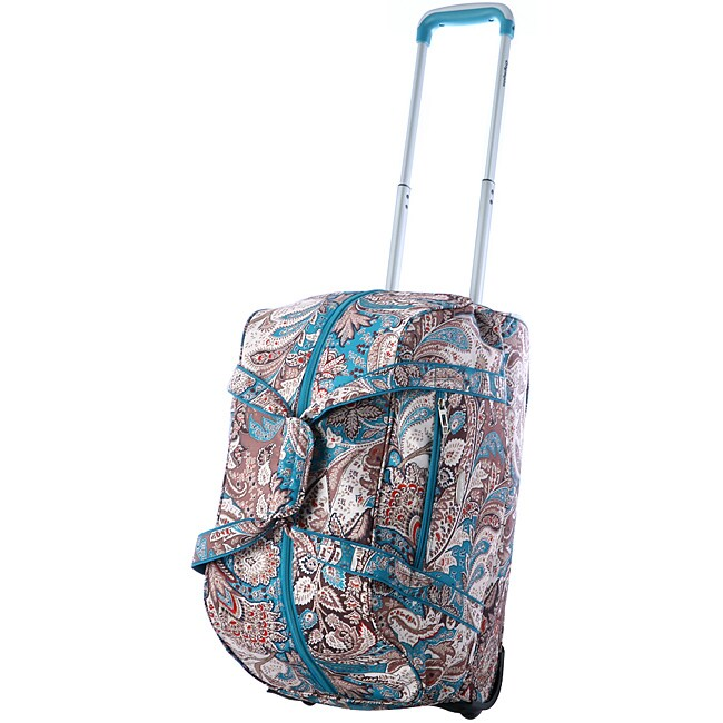 Olympia 21-Inch Paisley Fashion Rolling Carry On Upright Duffel Bag