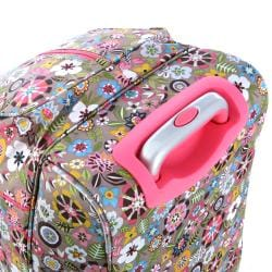Olympia 21-Inch Tulip Fashion Rolling Carry OnUpright  Duffel Bag