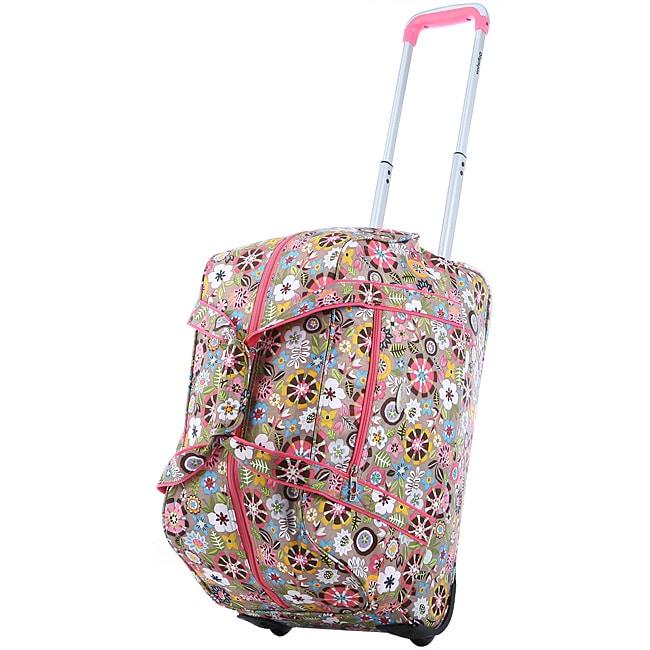 Olympia 21-Inch Tulip Fashion Rolling Carry OnUpright Duffel Bag
