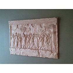 Finished Bonded Marble Arch Of Titus Wall Relief Replica