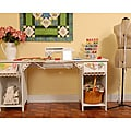 Arrow Olivia Sewing Cabinet/ Table with Base Shelves/ Drawer by Exponential