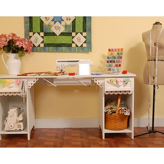 Arrow 'Olivia' Crafts & Sewing Machine Table with Storage & Organization Cabinet