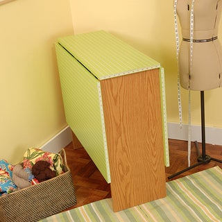 Arrow 'Pixie' Green Crafts & Sewing Table Cabinet with Cutting Table