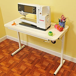 Arrow Gidget II White Sewing Cabinet & Table by Exponential