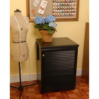Arrow Sewnatra Black Sewing Machine/ Accessories Storage Cabinet w/AirLift by Exponential