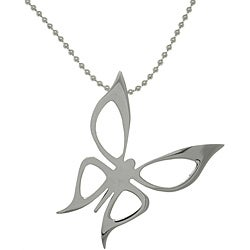 CGC Stainless Steel Butterfly Invisible Bail Necklace
