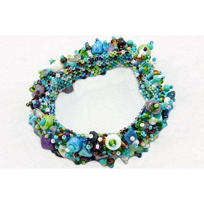 Overstock.com Capullo Beaded Gemstone Bracelet (Guatemala) at Sears.com