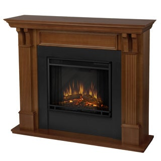 Real Flame Oak Finish Electric Fireplace