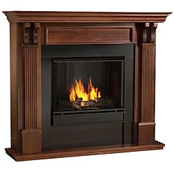 Real Flame Ashley Gel Fireplace Mahogany