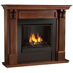 Real Flame Mahogany Finish Gel Fireplace