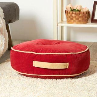 Scarlet Microfiber 20-inch Round Floor Pillow
