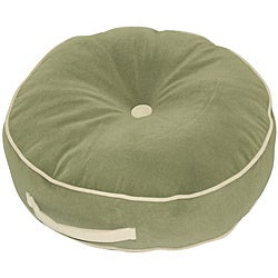 Moss Microfiber 20-inch Round Floor Pillow