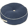 Denim Microfiber 20-inch Round Floor Pillow