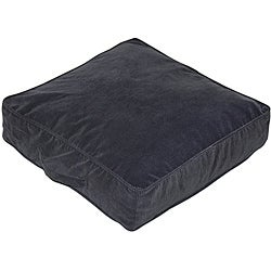 Charcoal Microfiber 20-inch Square Floor Pillow
