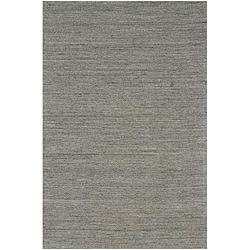 Hand-loomed Grey Wool Rug (8' x 10')