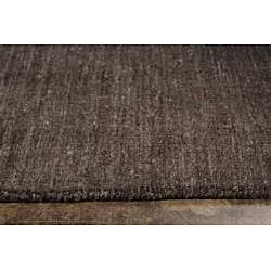Hand-woven Solid Grey Wool Rug (5' x 8')