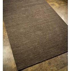 Hand-woven Solid Grey Wool Rug (8' x 10')