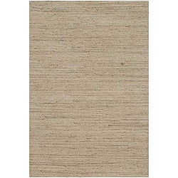 Hand-woven Solid Ivory Wool Rug (8' x 10')