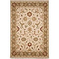 Hand-knotted Sand Brown Wool Rug (2' x 3')