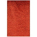 Woven Ruby Red Shag Area Rug (2' x 3')