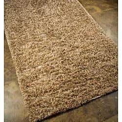 Hand-woven Beige Wool Area Rug (5' x 8')