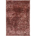 Hand-woven Red Shag Rug (2' x 3')