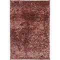 Handwoven Red/Brown Shag Rug (5' x 8')
