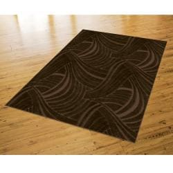 Brush Strokes Mink Brown Rug (5' x 8')