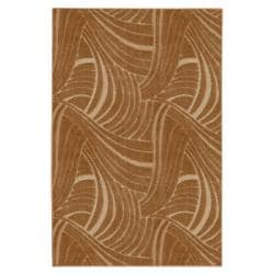 Brush Strokes Apple Butter Brown Rug (8' x 10')