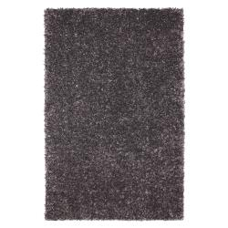 Fox Fire Graphite Grey Shag Rug (5' x 8')