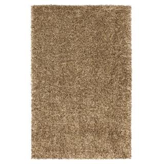 Shimmer Shag Green Gold Shag Rug (8' x 10')