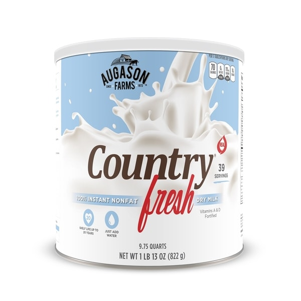 Augason Farms Country Fresh 100-percent Real Instant Nonfat Dry Milk 29 oz #10 Can 21211759