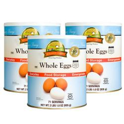 Augason Farms Dried Whole Eggs Institutional-sized Cans (Three-pack)
