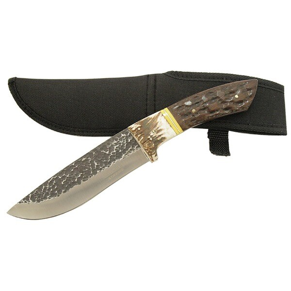Defender Full-tang 11-inch Stag Handle Hunting Knife with Sheath