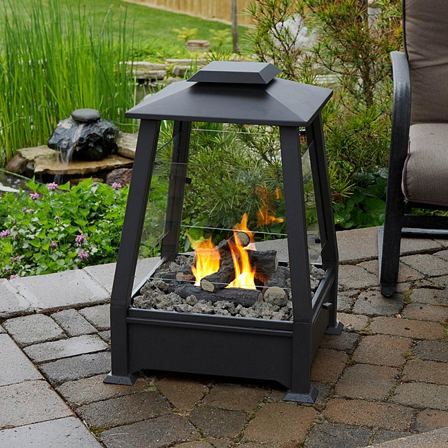 Real Flame 'Sierra' Black Outdoor Fireplace