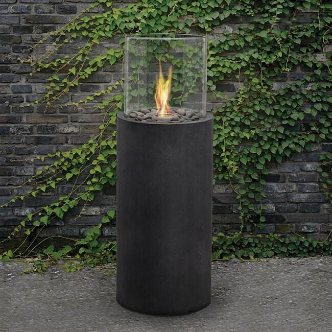 Real Flame 'Modesto' 38-inch Black Fire Column