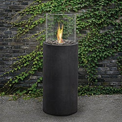 Real Flame 'Modesto' 38-inch Black Fire Column