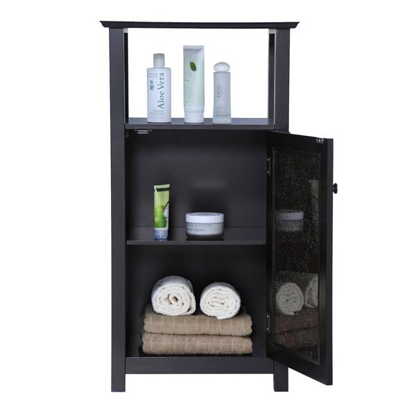 Fifth Avenue Espresso/ Amber Cabinet