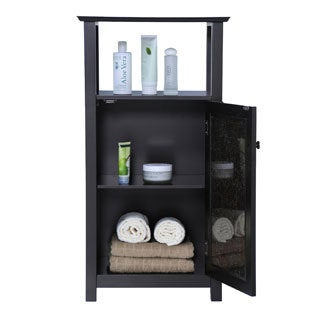 Fifth Avenue Espresso/ Amber Door/ Shelf Cabinet