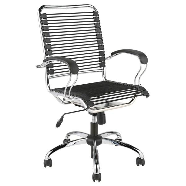 Bungie High Back J-arm Black/ Chrome Office Chair