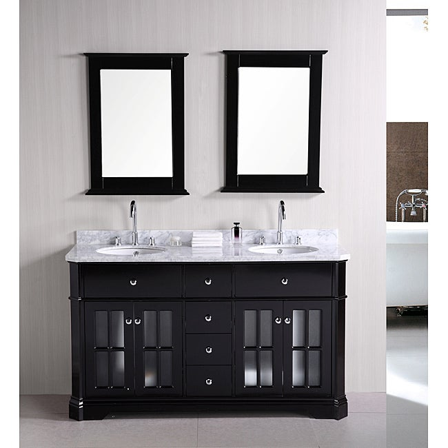 Design Element Imperial 60 inch Double Sink Bathroom