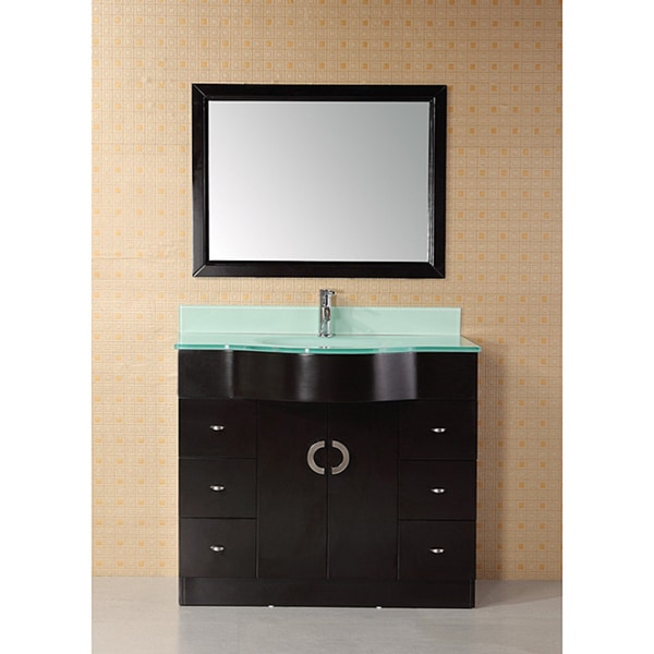 Design Element Aria 40 Inch Modern Single Bathroom Vanity
