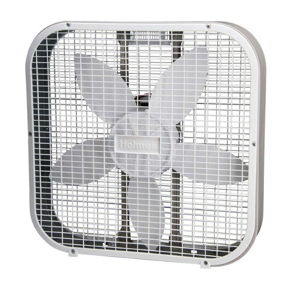 Holmes White 2-inch Metal Box Fan