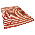 Foldable Red Narrow Striped Travel Mat