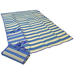 Foldable Blue Striped Travel Mat