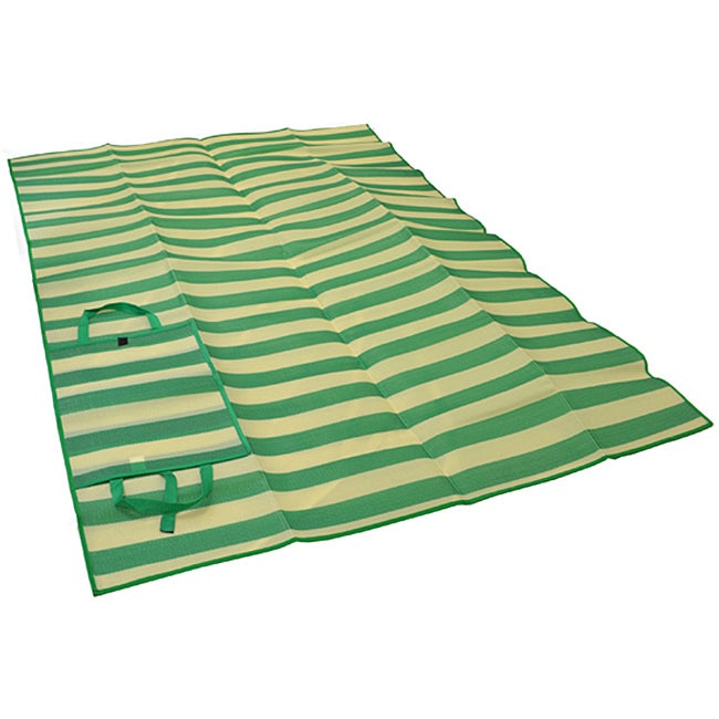 Foldable Green Striped Travel Mat