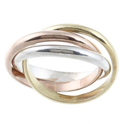 La Preciosa Tri-color Sterling Silver Interlocking Ring