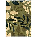 Hand-Tufted Hesiod Green Contemporary Wool Rug (5' x 8')