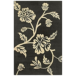 Hand-tufted Hesiod Charcoal Wool Rug (5' x 8')